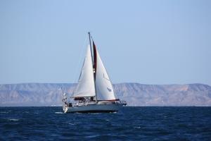 Camanoe at Sail